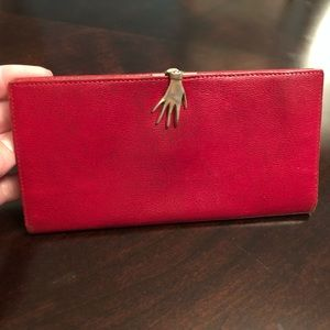 Rare Vintage Gucci Crimson Red Wallet Hand Clasp